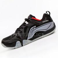 Sepatu Badminton Li-Ning / LiNing AYTQ090 Saga Lite 2 Black Silver