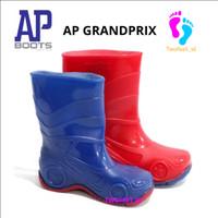 AP GRANDPRIX 17-19 BLUE & RED - SEPATU BOOTS KARET ANAK - AP BOOTS