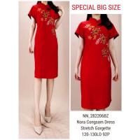 Shanghai Floral Cheongsam Dress Imlek CNY Big Size - 19228 SPN