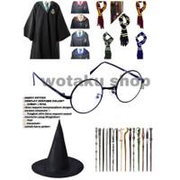 Fullset costume cosplay harry potter all charachter wand jubah asrama