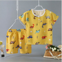 Setelan Baju Tidur Anak Adem Lengan Celana Pendek - Bern City