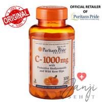 Puritan Pride Vitamin C 1000 with Rosehip + Bioflavonoids 100 Caplets