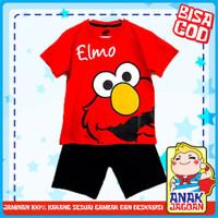 Baju anak laki-laki / Setelan anak laki-laki motif Elmo Red 1-10 thn - 1-2 tahun