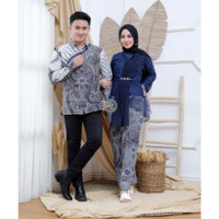 Couple Kebaya Brokat Modern Baju Batik Sarimbit Kondangan Real Pict