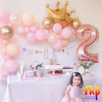 FUN KIDS PARTY Paket Dekorasi Ulang Tahun Putri - Garland Balon Pastel