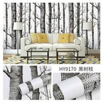 W71 Wallpaper Dinding Motif kayu - Wallpaper Sticker Motif Wood