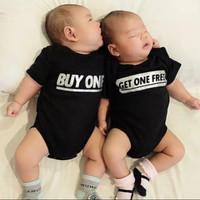 Bisa+Nama Twins Newborn Jumper Jumpsuit Romper Kado Baju Bayi Kembar