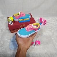 Sepatu Anak Vans Authentic Blue Pink