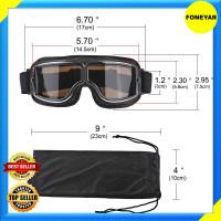 Kacamata Google Motor Klasik Vintage UV Protection Premium