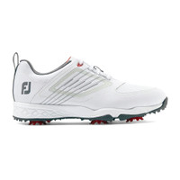 FootJoy FJ Junior Fury Spiked Golf Shoes - White