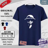 kaos t shirt original distro cowok dewasa keren kekinian Luffy Ketawa