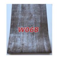 W68 Wallpaper Dinding Motif kayu - Wallpaper Sticker Motif Wood