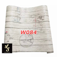 W84 Wallpaper Dinding Motif kayu - Wallpaper Sticker Motif Wood