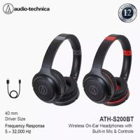 Audio Technica ATH-S200BT Wireless Over-Ear Headphones Original