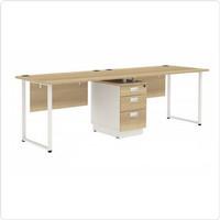 Meja kantor meja pegawai 2 orang minimalis modern brand expo
