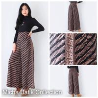 Celana batik paris cap: Culotte panjang sogan cream