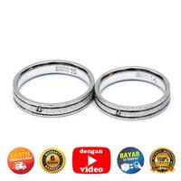RC 060- Cincin Couple Perak Sterling 925 Emas Putih ASLI Korea-Garansi