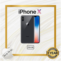 New Iphone x 256 GB Silver Black - Hitam