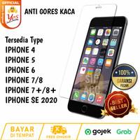 HighQuality Tempred Glass Anti Gores Bening IPHONE 4 5 6 7 8 Plus SE