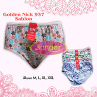 3Biji Celana Dalam Wanita Golden Nick Sablon L, Celana Dalam Motif