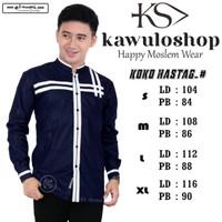 Baju Koko hastag navy motif terbaru/Baju Koko gus asmi terbaru