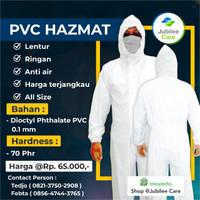 APD HAZMAT SUIT PVC MURAH ANTI AIR