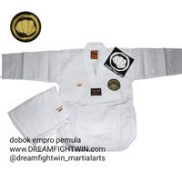 baju taekwondo empro anak anak kerah putih pemula