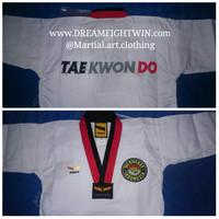 baju taekwondo empro poom kerah merah hitam