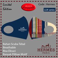 Masker Kain scuba premium Hermes Gucci LV Bape Masker Couple Branded