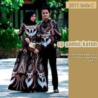 baju batik couple pasangan terbaru / gamis batik wanita / kemeja batik