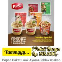 Popso Paket Lauk Ayam + Seblak + Bakso Kekinian