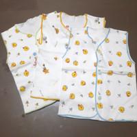baju anak bayi kancing buntung 6 12 bulan 1 2 tahun kuning biru hijau