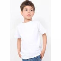 3 Pcs Baju oblong kaos putih polos anak 1-12thn bahan katun adem
