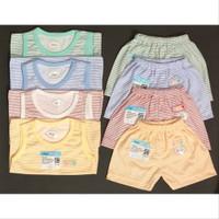 Setelan oblong kutung baju singlet celana pendek baju anak bayi unisex