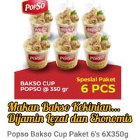 Popso Bakso Cup Paket 6's ( 6x 350Gram)