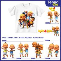 Upin dan Ipin - Kaos / Baju Anak Gratis cetak nama custom