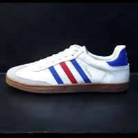 sepatu adidas samba original Grade murah putih lis merah biru + box