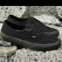 sepatu vans authentic polos full black murah