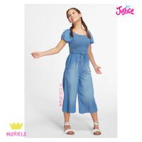 Justice Smocked Jumpsuit Chambray Baju Lebaran Anak Remaja Original