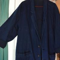 blazer jeans wanita atau pria. Size XXL. Warna asli biru dongker.