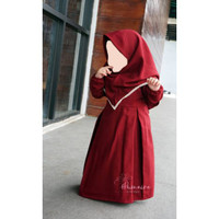 Baju Muslim gamis anak usia 1-5 Tahun Clemira