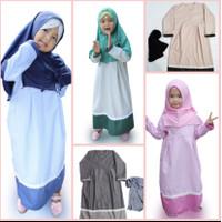 Set gamis & jilbab anak untuk lebaran atau manasik haji/umroh