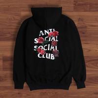 HOODIE ASSC ROSE SWEATER ANTI SOCIAL SOCIAL CLUB MIRROR ORIGINAL