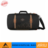 TAS MULTIFUNGSI EIGER BORNEO M 40L ORIGINAL DUFFLE BACKPACK - BLACK