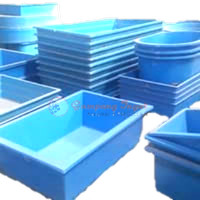 bak fiber persegi 120x80x40 polos/bak fiber kolam/perlengkapan kolam