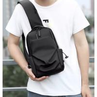 Tas Selempang Pria / Sling Bag / Tas Bahu TSP Bag bonus Dompet dan Jam