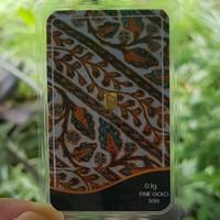 Emas 24 K/ Logam Mulia 0.1 gram - Batik 1