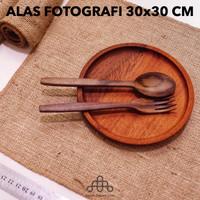 Alas Fotografi 30x30 CM - Kain Goni Properti Foto - Taplak Meja Kecil