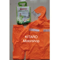 Jas hujan Axio Orange bahan karet rubber