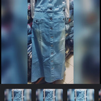 Gamis Overall Jeans street/ Overall Rok / jumpsuit rok Jeans